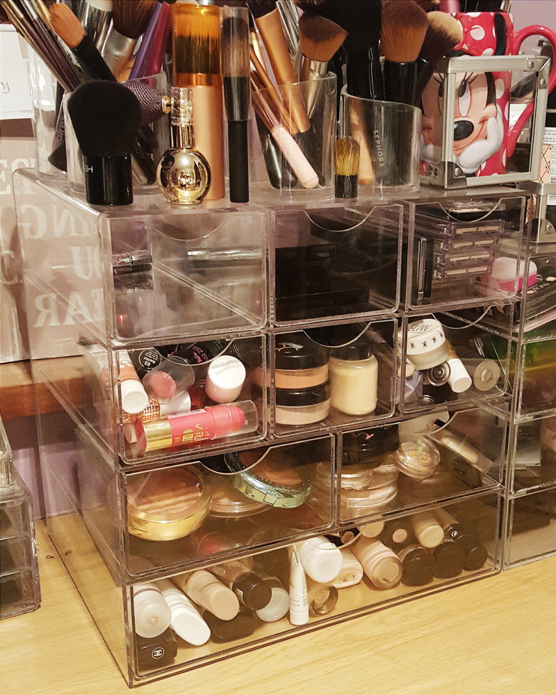 Beauty Blogger Makeup Storage