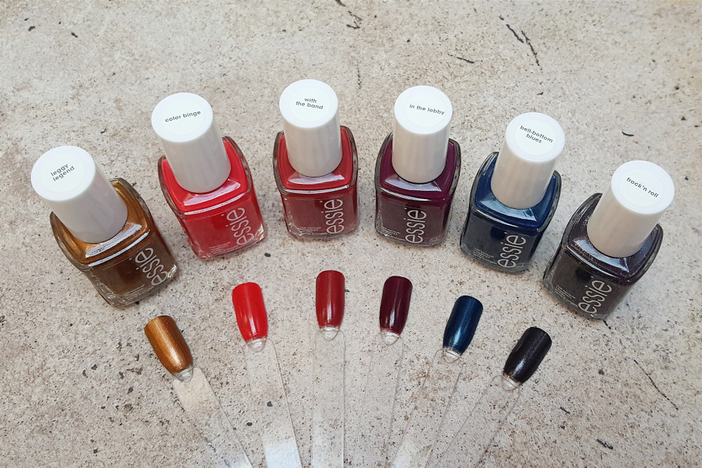 Essie Autumn 2016 Leggy Legend Swatches