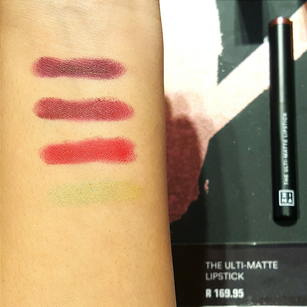 3INA Dark Holiday Collection Ultimatte Lipstick Swatches