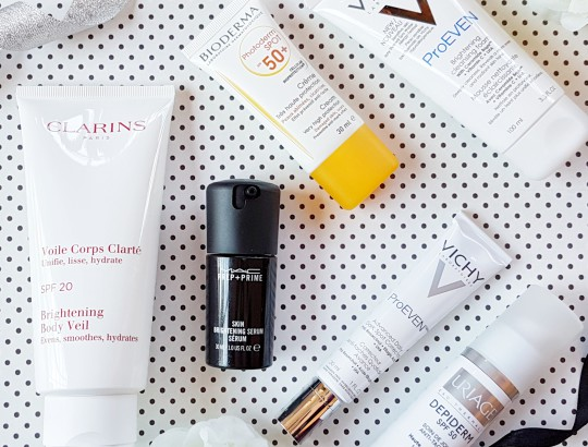 Products for lighter brighter skin
