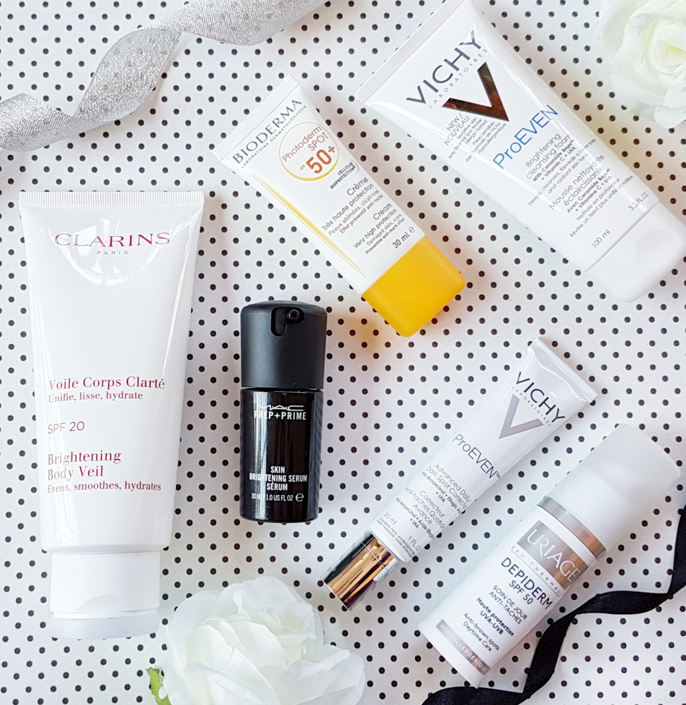 Brightening Skincare Edit Products for lighter brighter skin