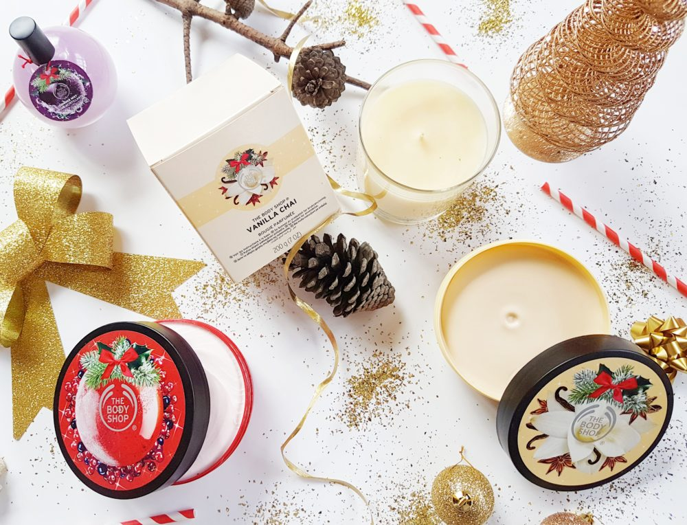 Christmas with The Body Shop Vanilla Chai Scented Candle
